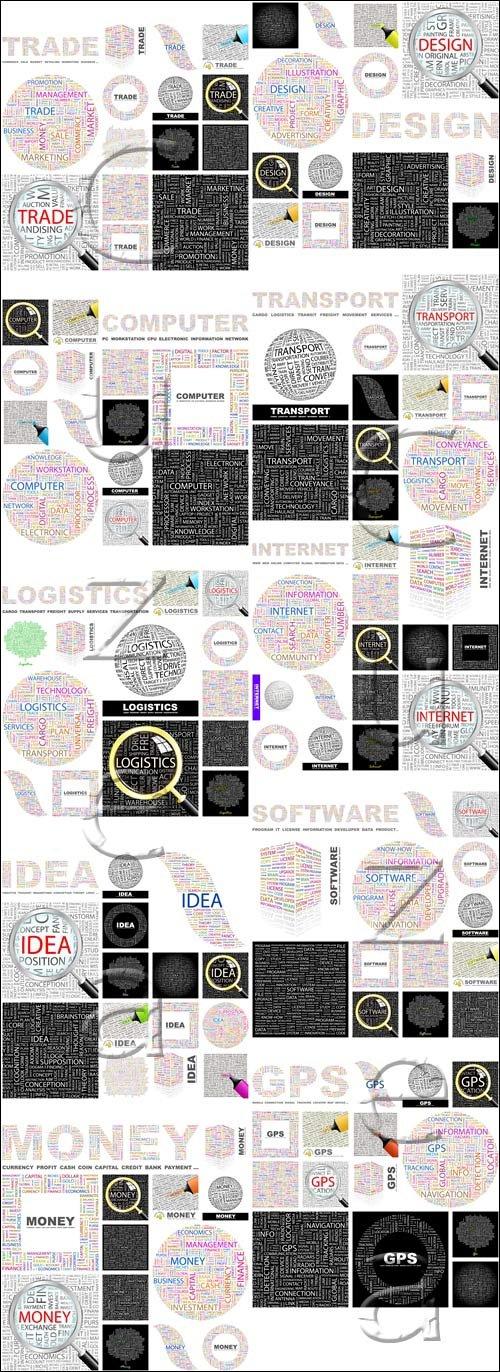 Социальные векторные надписи, 14 / Social vector inscriptions, 14