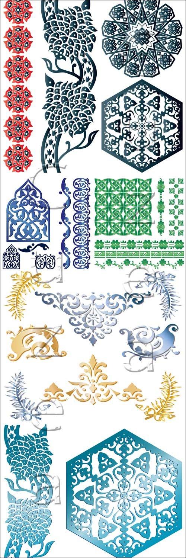 Арабские векторные орнаменты / Arabic ornaments in vector