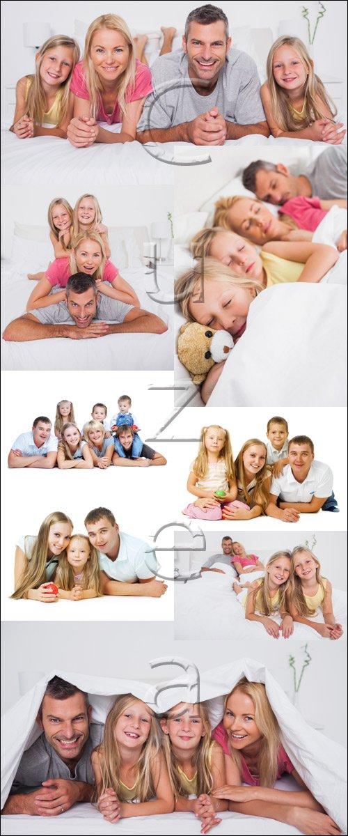 Счастливая семья, 10 / Happy family, 10 - stock photo