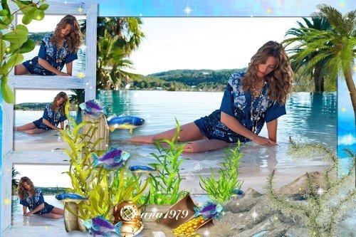 Рамка для фотошопа - Sea