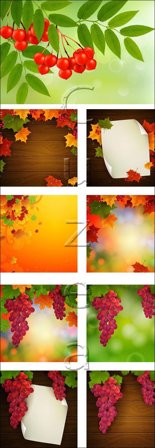 Осенний векторный клипарт, часть 2 / Autumn collage in vector, part 2