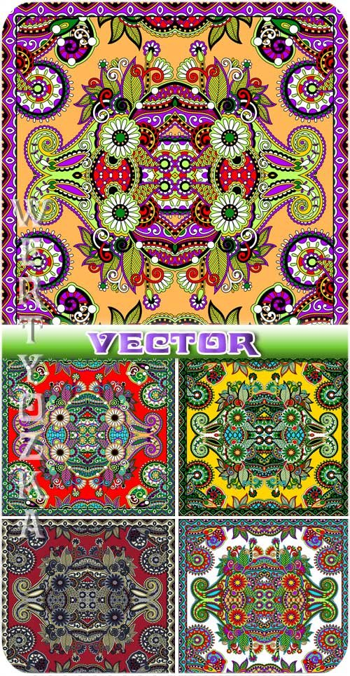 Векторные фоны с узорами / Vector background with beautiful colorful designs