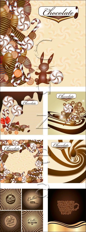 Шоколад и кофе в векторе / Chocolad and cofee - vector stock