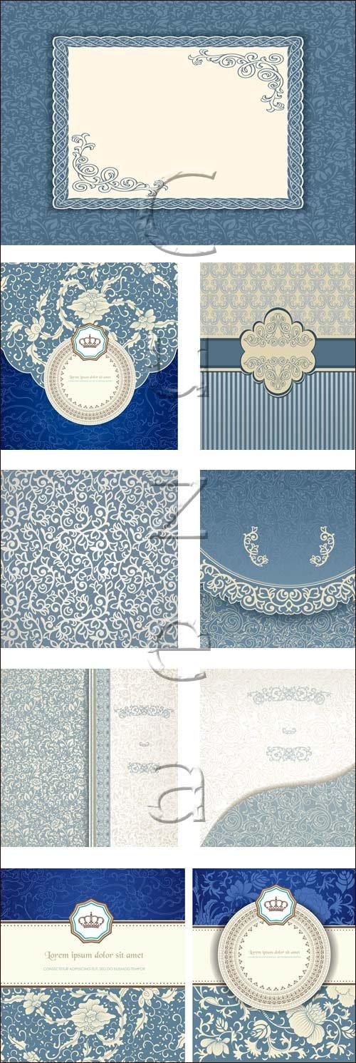 Винтажные орнаменты, 14 / Vintage ornaments, 14 - vector stock