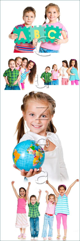 Дети и школьная пора / Children and school time - stock photo