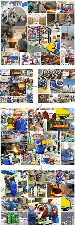 Индустриальный коллаж / Industry Jobs Collage - stock photo