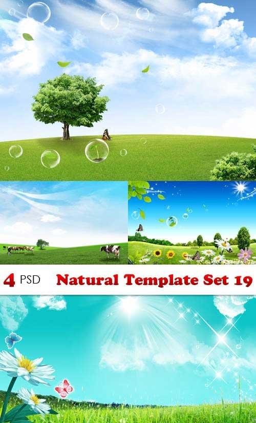 PSD исходники - Natural Template Set 19