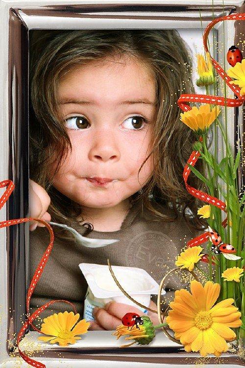 Детская фоторамка - Цветы календулы