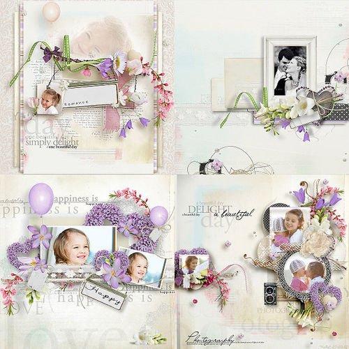 Нежный романтический скрап-комплект - Романтика