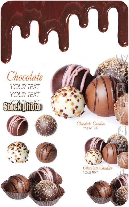 Шоколад, шоколадные конфеты / Chocolate, chocolate candy - Raster clipart