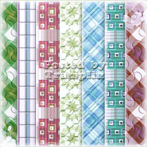 Фоны с разными  текстурами  - Стеганая ткань