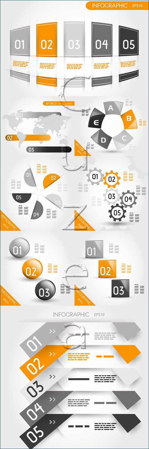 Infographic collection, 67 - vector stock