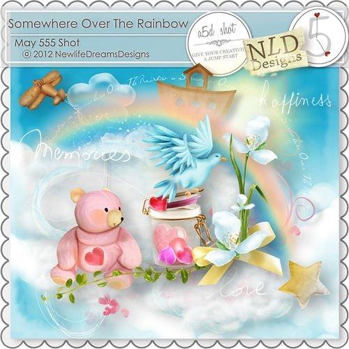 Очаровательный детский скрап-комплект - Над радугой