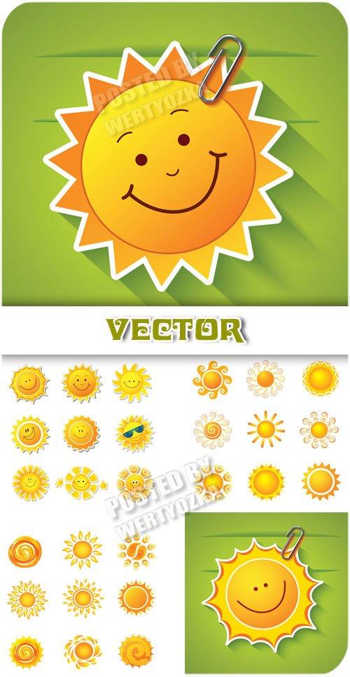 Солнышко / Sun, background with the sun - vector clipart