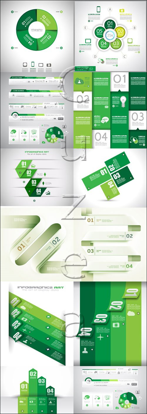 Infographic collectoin, 75 - vector stock