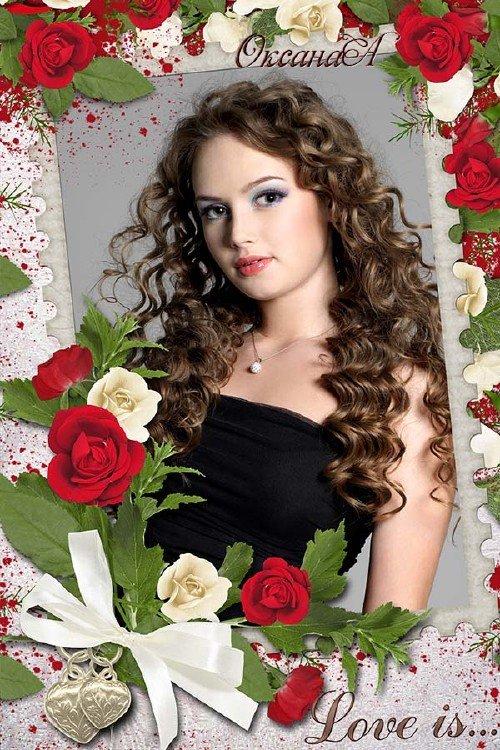 Фоторамка – Волшебная роза