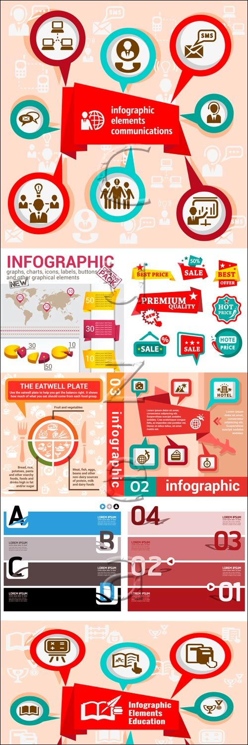 Infographic collection, 77 - vector stock