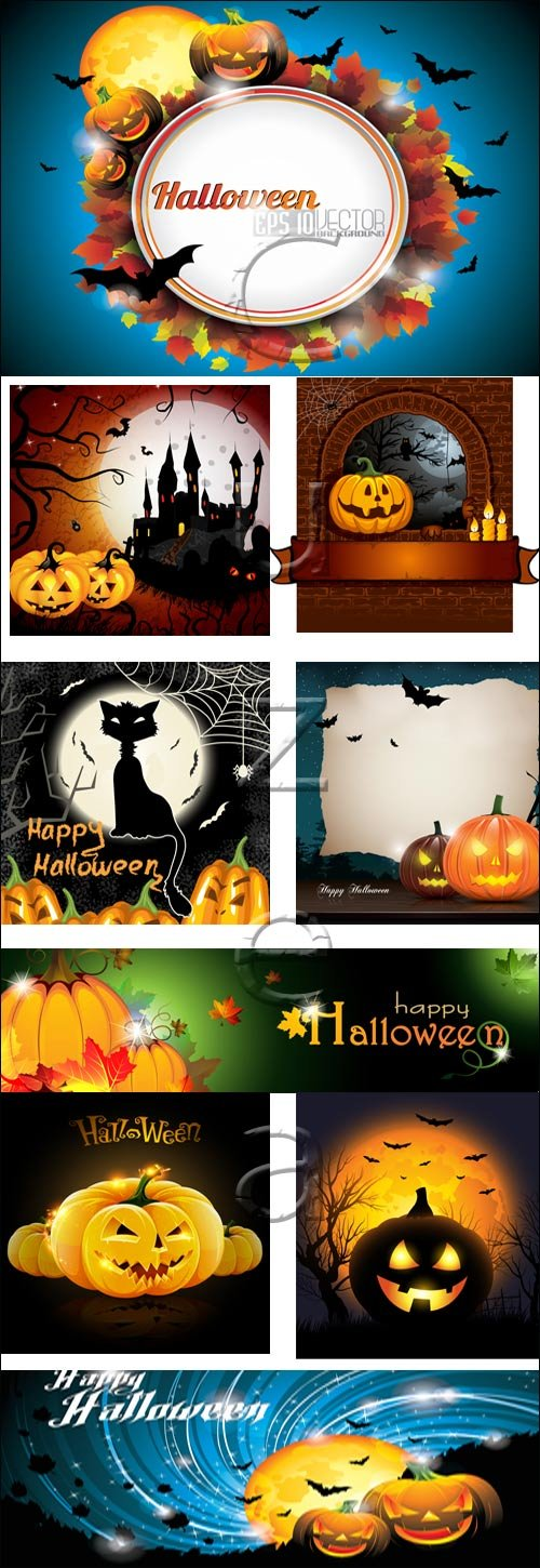 Halloween vector collection, 6 - vector stock