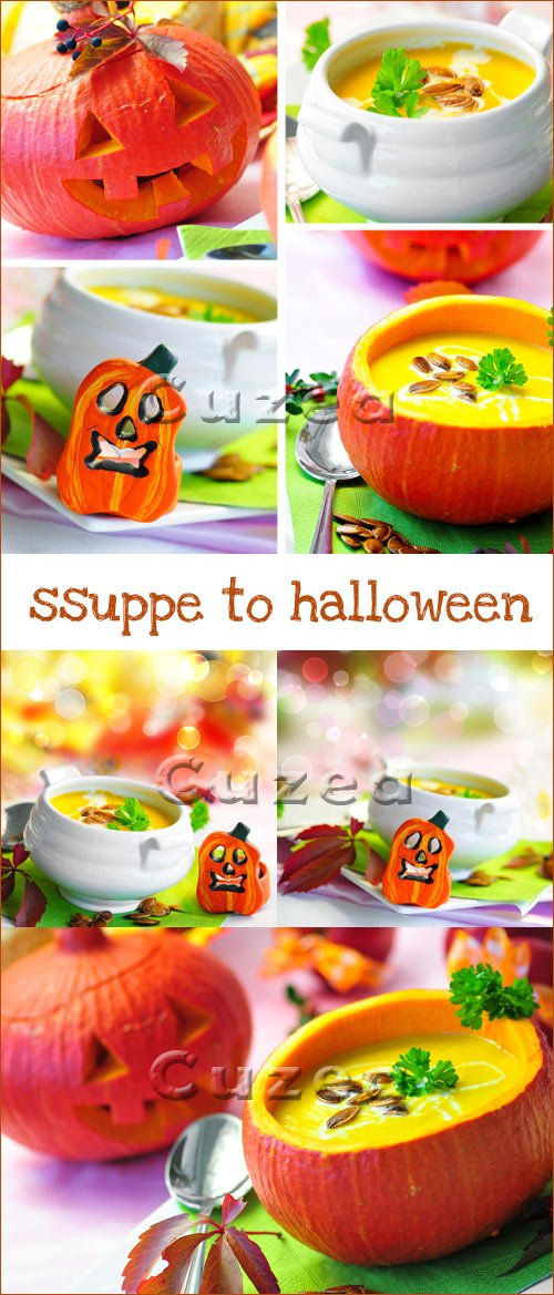 Soup to halloween - vector stock