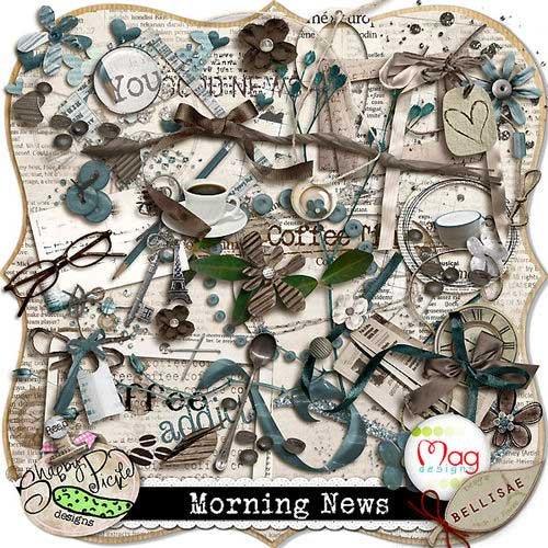 Интересный скрап-комплект - Утренние новости
