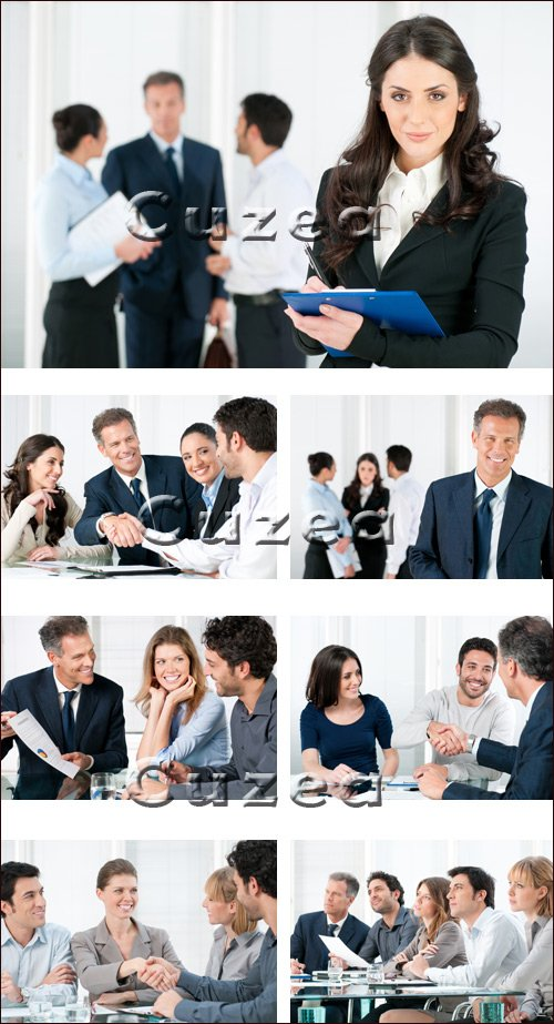 Business people on conference - stock photo