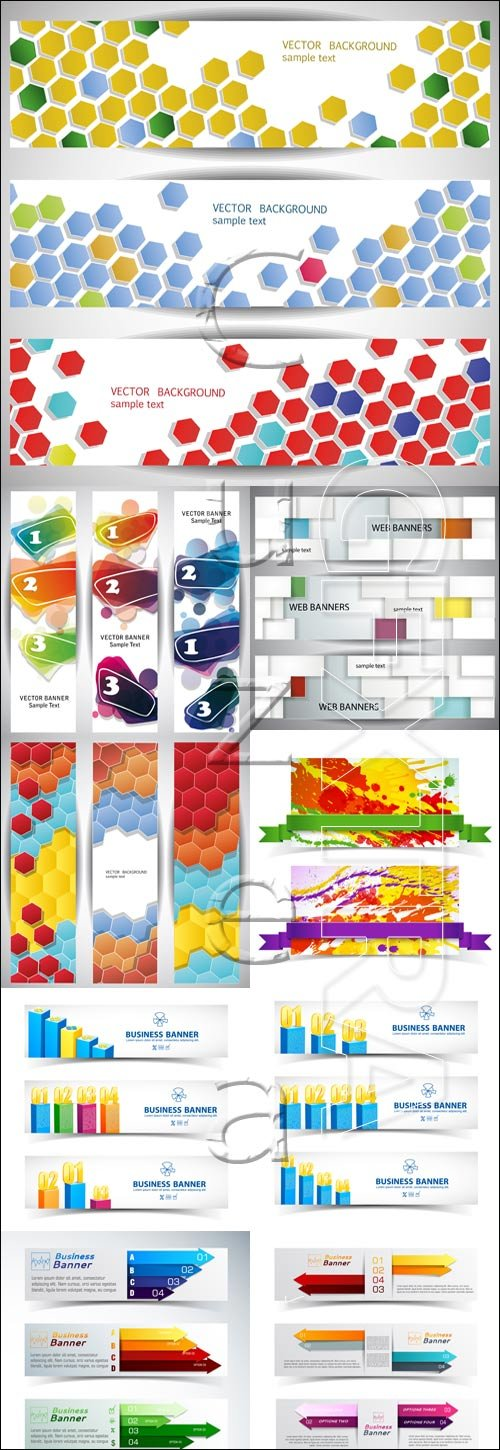 Business abstract banners - vector set