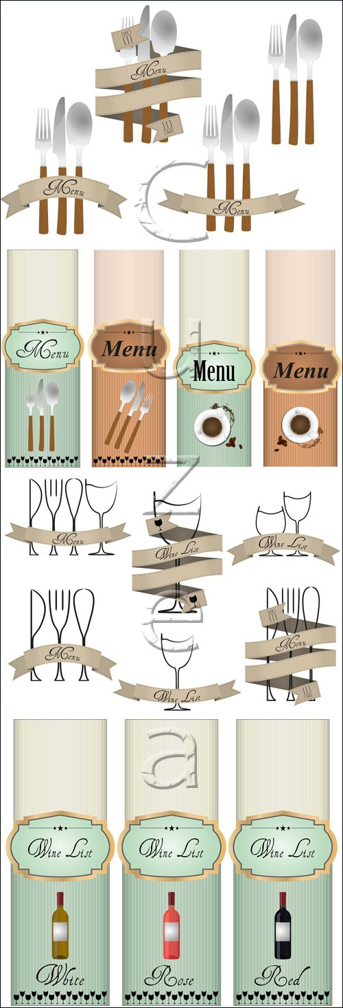 Menu vector labels, 20