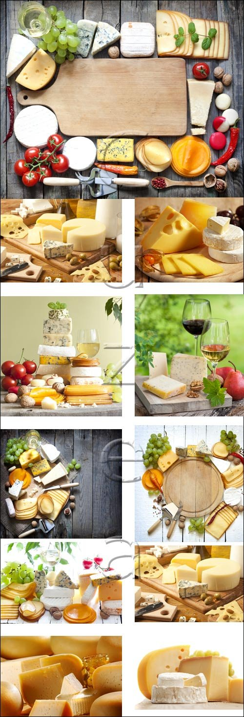Cheese on wood, 5 - stock photo