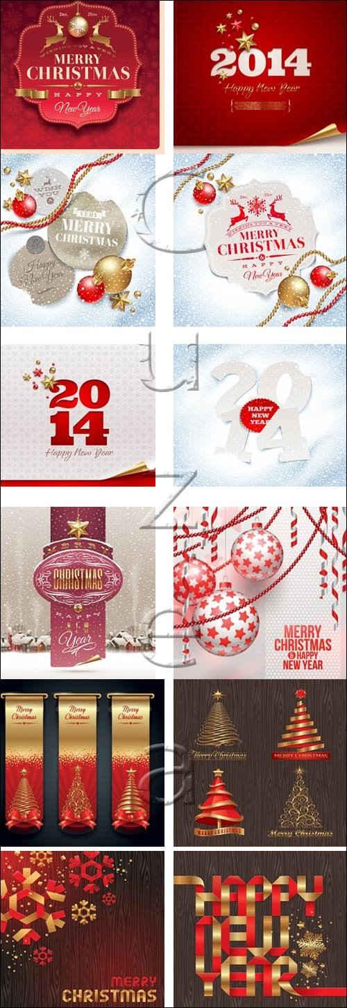 New year banner, backgrounds and elements 2014, part 2