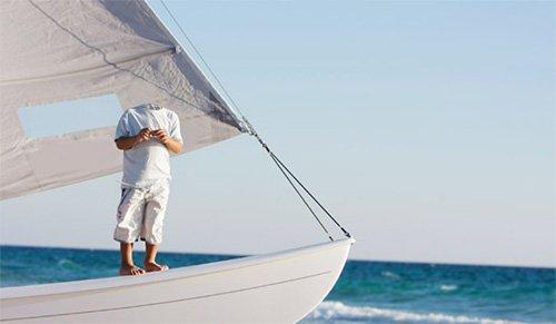 Шаблон для фото - На красивой яхте в синее море