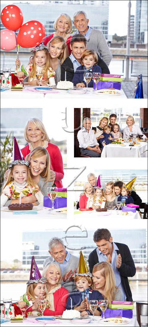 Holiday in the big family - stock photo