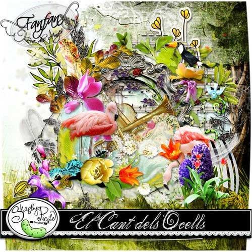 Цветочный скрап-комплект - El Cant Dels Ocells