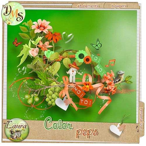 Цветочный скрап-комплект - Color peps