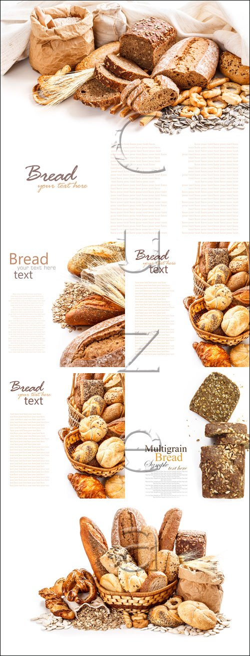 Bread from rye and wheat flour - stock photo