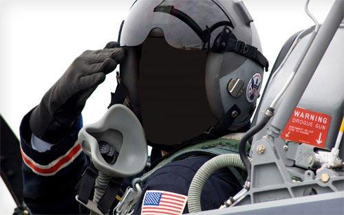 Шаблон для фотомонтажа - Пилот боевого самолета