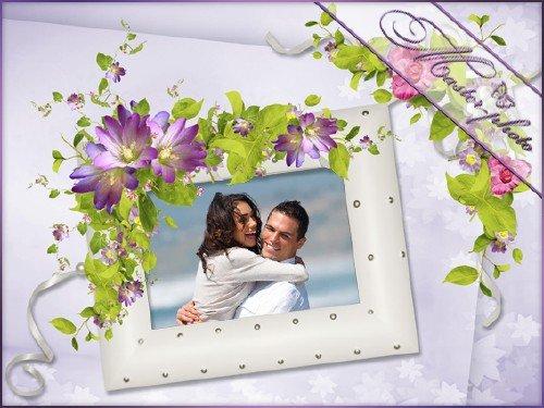 Романтическая рамка для фотошопа - Теплые воспоминания