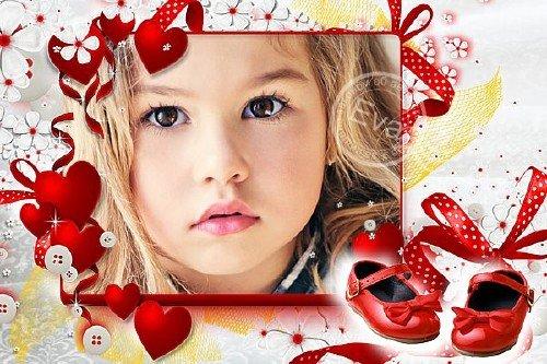 Детская рамочка для фото - Красные туфельки