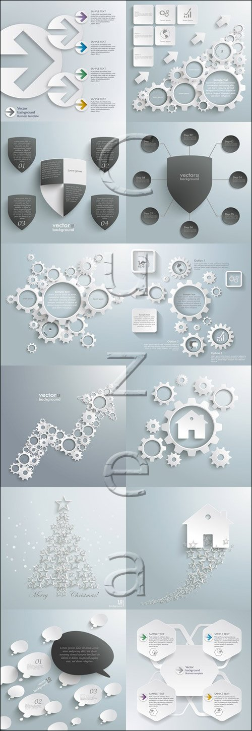 Infographic  vector abstraction elements, 81