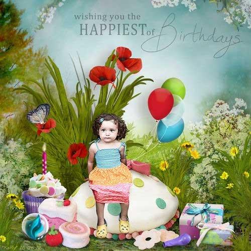 Яркий праздничный скрап-комплект - Счастливого Дня Рождения