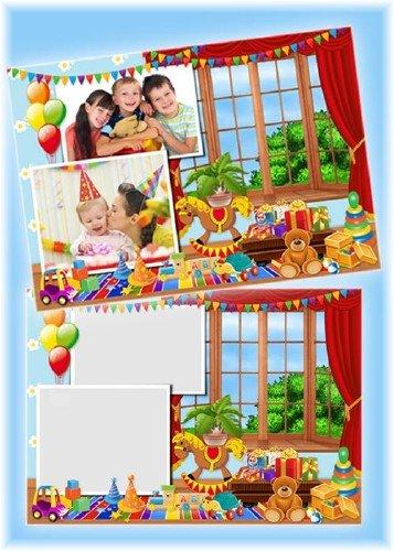 Детская рамочка для фотографий - Я и мои игрушки