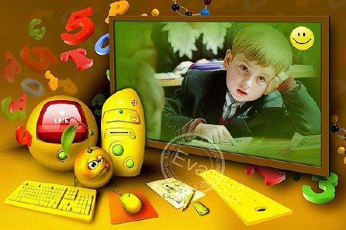 Детская рамка для фото - Школьная перемена