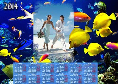 Календарь 2014 - Чудный подводный мир