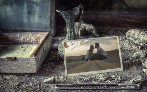 Фоторамка - Старинные нежные воспоминания
