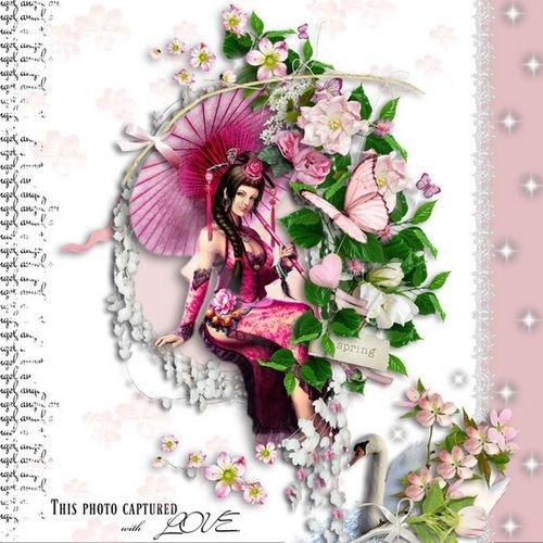 Нежный романтический скрап-комплект - Сладкая романтика
