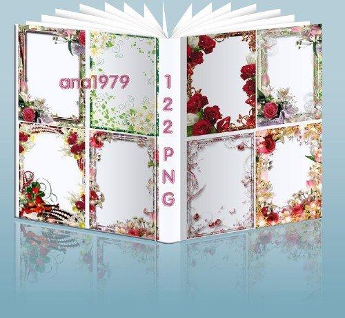 Сборник цветочных рамок - Красивые цветы