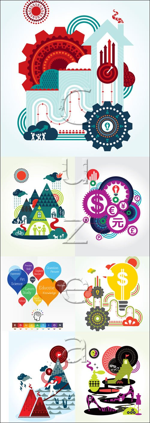 Elements and creativ infographics - vector stock