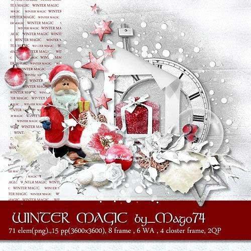 Яркий зимний скрап-комплект - Зимние волшебство