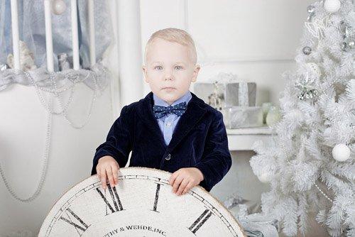 Шаблон для photoshop - Малыш в ожидании Нового года