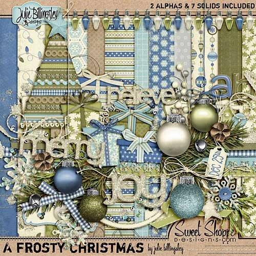 Зимний скрап-комплект - Морозный Рождество