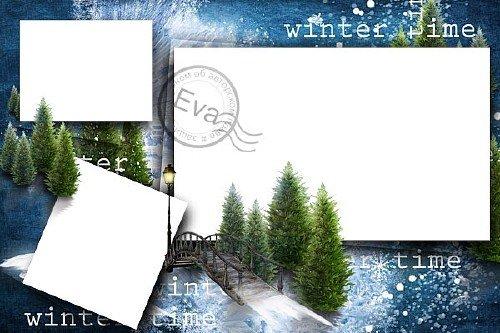 Рамка для фото - Прогулка зимним вечером